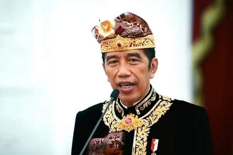 Foto tangkapan layar Presiden Joko Widodo saat membuka Pesta Kesenian Bali (PKB) ke-43 secara virtual, Sabtu (12/6/2021).