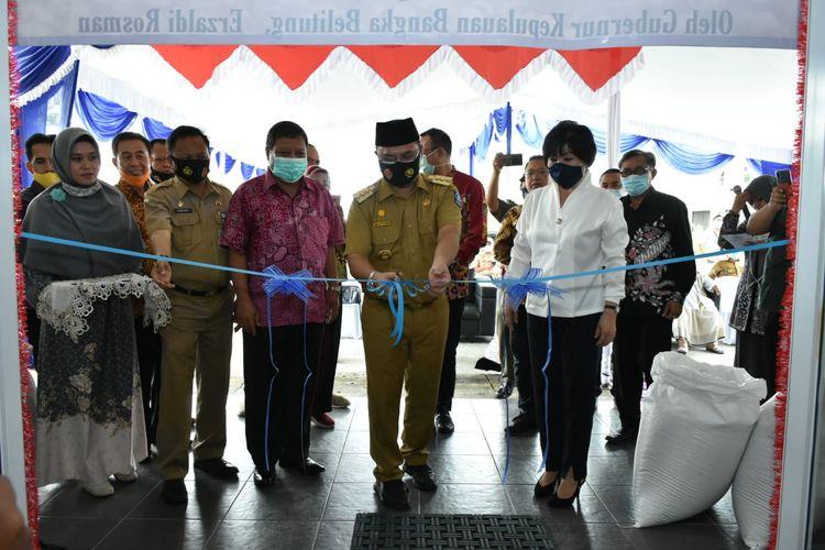 Peluncuran Pasar Fisik Lada dan Pelepasan Ekspor Lada Muntok White Pepper ke Jepang yang dilaksanakan di Kantor Pemasaran Bersama (KPB) Lada Provinsi Kepulauan Bangka Belitung, Sabtu (15/8/2020).
