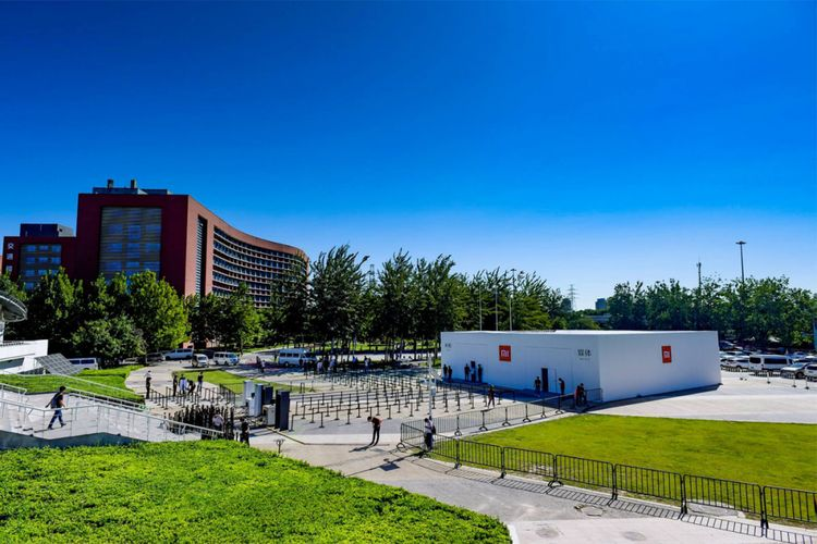 Lokasi acara peluncuran produk terbaru Xiaomi di Beijing University of Technology, Senin (11/9/2017).