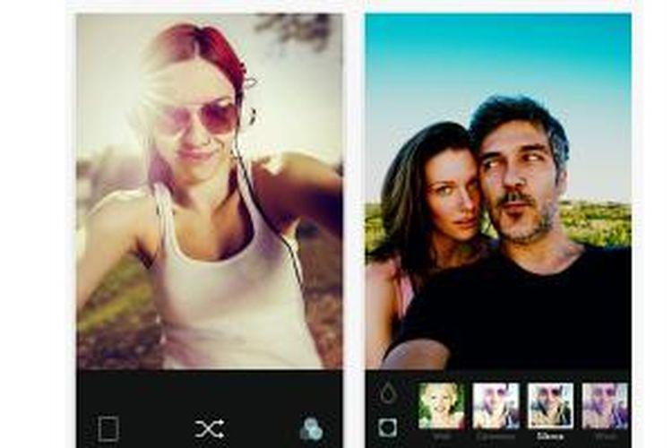 Aplikasi selfie B612 dari LINE untuk pengguna iOS.