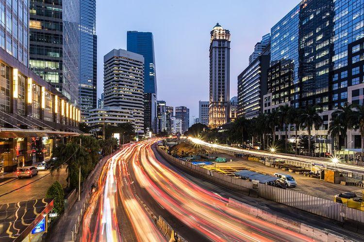 Ilustrasi jalanan Jakarta