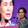 Ulang Tahun Aung San Suu Kyi ke-76, Demonstran Pakai Bunga di Rambut dan Berpawai