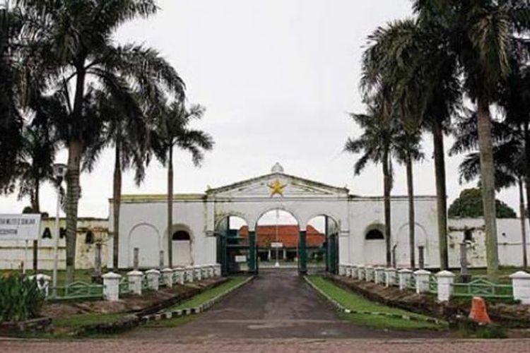 Kawasan Benteng Kuto Besak di Palembang, Sumatera Selatan.