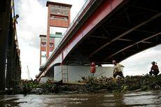 Dampak Kemarau, Sungai Musi di Palembang Surut 2 Meter