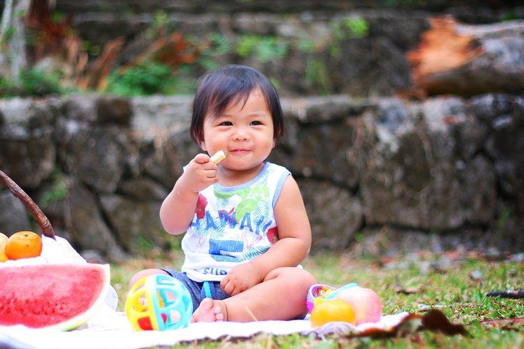 Ilustrasi bayi sehat.