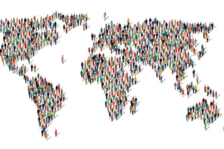 Ilustrasi sensus penduduk online