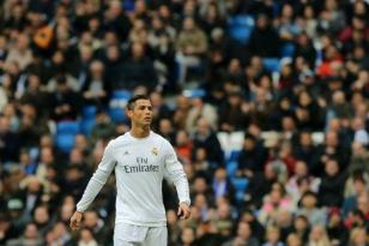 Cristiano Ronaldo menjadi aktor utama di balik kemenangan 3-1 Real Madrid atas Real Sociedad, pada lanjutan Divisi Primera La Liga di Stadion Santiago Bernabeu, Rabu (30/12/2015).