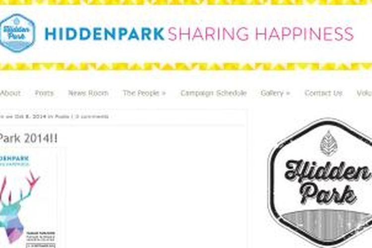 Screenshot situs HiddenPark