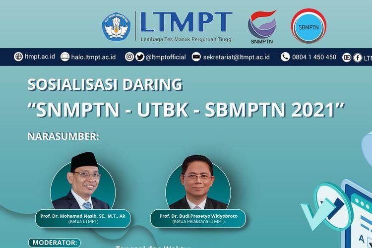 Sosialisasi Daring SNMPTN, UTBK, dan SBMPTN 2021