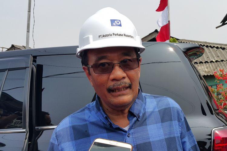 Gubernur DKI Jakarta Djarot Saiful Hidayat seusai ground breaking pembangunan Resto Apung Muara Angke, Jakarta Utara, Minggu (20/8/2017).