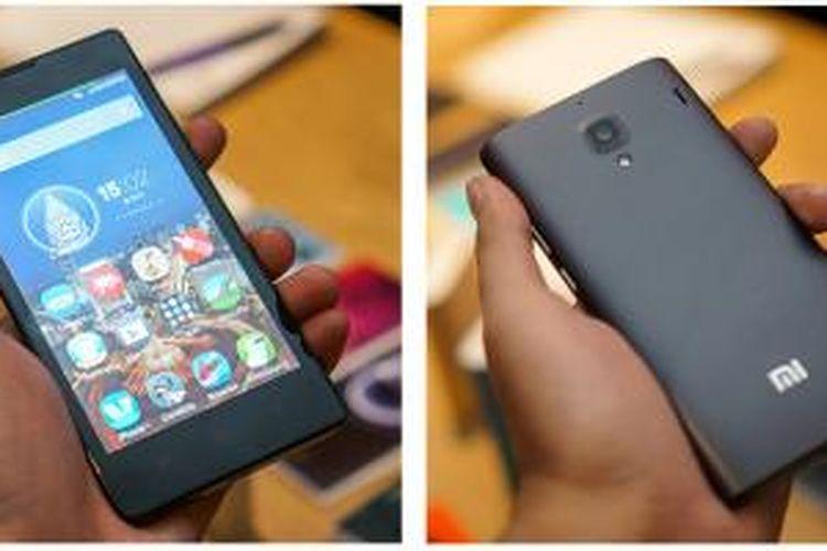Tampak depan dan belakang Xiaomi Redmi 1S