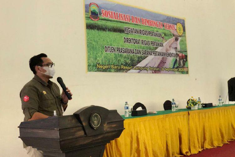Sekretaris Ditjen PSP Kementan Gunawan, dalam acara Sosialisasi dan Bimbingan Teknis (Bimtek), di Lampung Selatan, Kamis (1/10/2020).