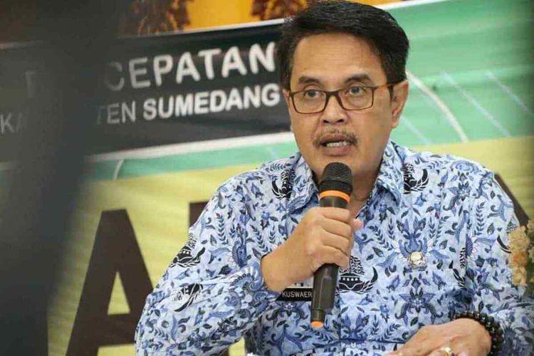 Ketua Bidang Komunikasi Publik Satgas Penanganan Covid-19 Kabupaten Sumedang Dr. Iwa Kuswaeri.