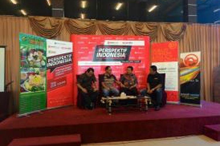 Ketua Populi Center Nico Harjanto, Kapolda Metro Jaya Irjen Tito Karnavian,Anggota DPR dan Ketua Umum GRANAT Henry Yosodnngrat, SH dalam Diskusi Perspektif Indonesia