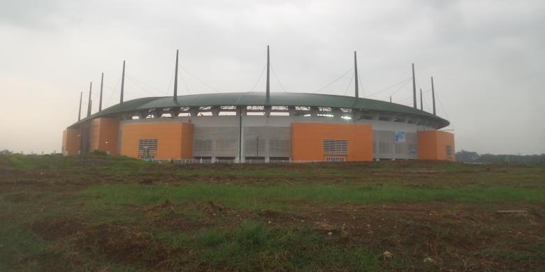Stadion Pakansari yang berlokasi di Cibinong, Kabupaten Bogor, Jawa Barat