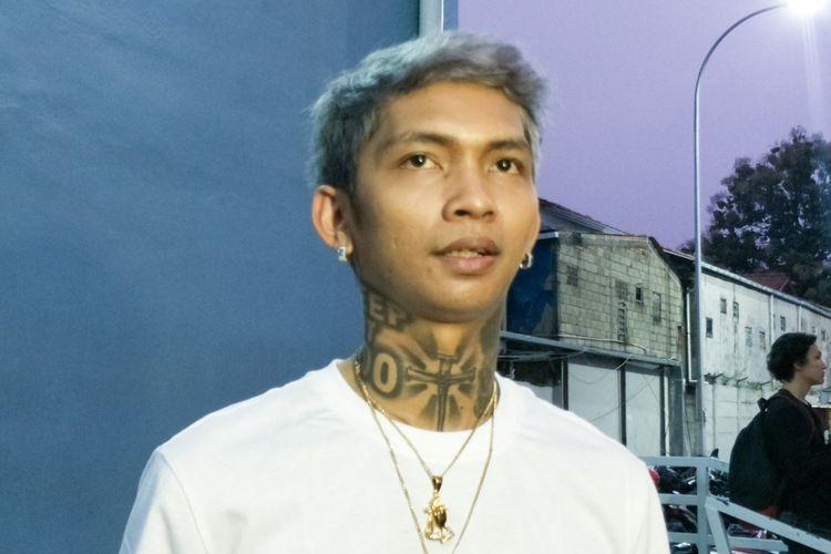 Rapper Young Lex saat ditemui di gedung Trans TV, Tendean, Jakarta Selatan, Kamis (23/8/2018).