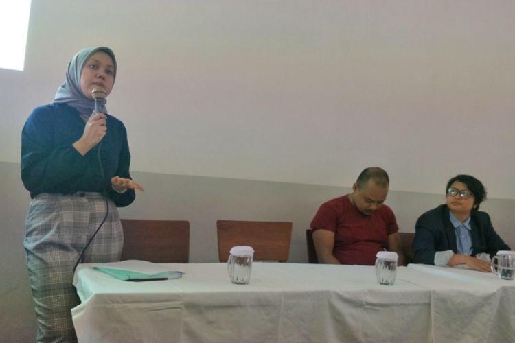 Aliansi Nasional Reformasi KUHP saat menggelar diskusi mengenai kaleidoskop pembahasan RKUHP 2018 dan proyeksinya di tahun politik, di kawasan Cikini, Jakarta Pusat, Kamis (20/12/2018).