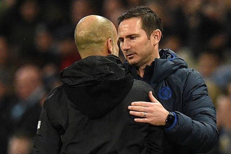 Pep Guardiola (kiri) dan Frank Lampard (kanan),