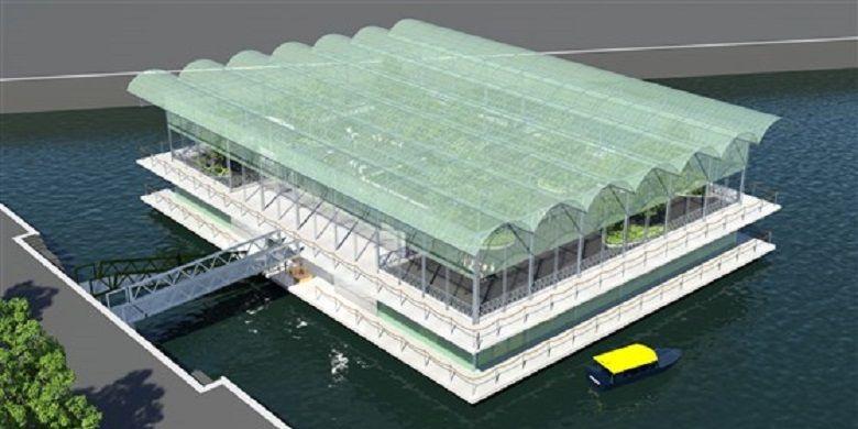 Konsep peternakan apung di Kota Rotterdam yang rencananya akan dibuka pada musim gugur 2018