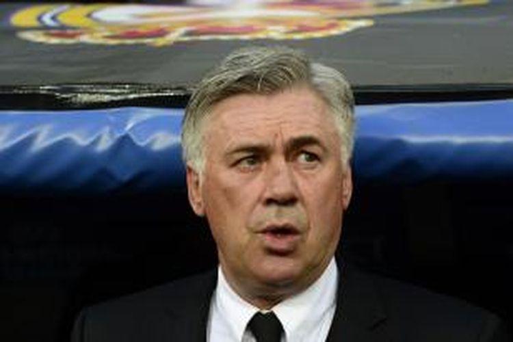 Pelatih Real Madrid Carlo Ancelotti.