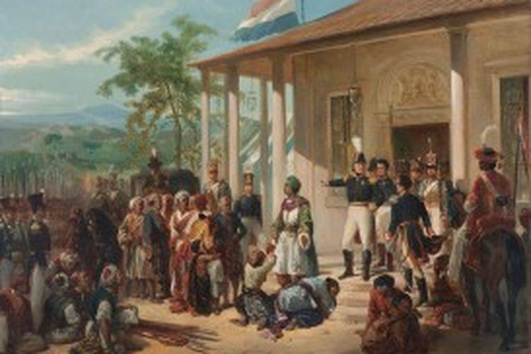 Penyerahan diri Pangeran Diponegoro kepada Jenderal De Cock