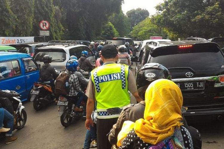 Kondisi terkini Jalan Batu Tulis, Bogor.