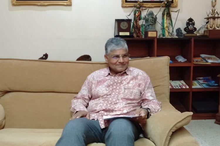Duta Besar India, Pradeep Kumar Rawat di kantornya di kawasan Kuningan, Jakarta Selatan, Jumat (6/3/2020)