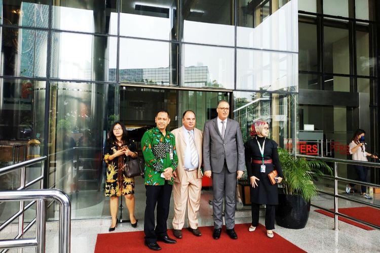 Wakil Ketua KPK Nurul Ghufron dan Duta Besar Tunisia untuk Indonesia Riadh Dridi di Gedung Merah Putih KPK, Kuningan, Jakarta Pusat, Rabu (11/3/2020).