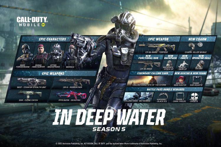Beragam konten baru di Call of Duty Mobile Season 5.