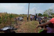 Polisi Kejar Pengutil Celana Dalam, Mobil Brio Pelaku Nyemplung ke Sawah