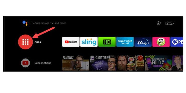 Cara menginstall aplikasi di Android TV