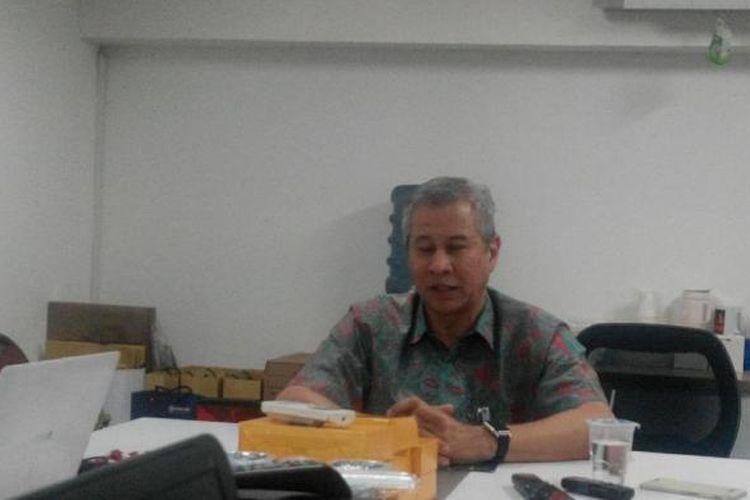 Corporate Secretary PT Bank Mandiri (Persero) Tbk Rohan Hafas di Plaza Mandiri, Rabu (25/1/2017).