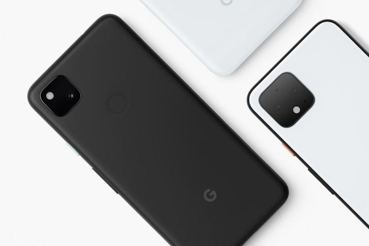 Ilustrasi Pixel 4a dengan warna Just Black.