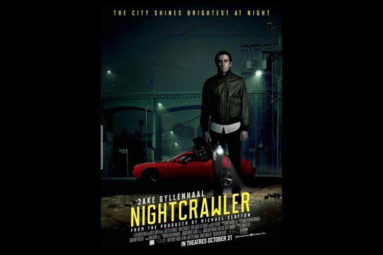Poster film Nightcrawler (2014) yang dibintangi Jake Gyllenhaal. Dapat disaksikan di Mola TV
