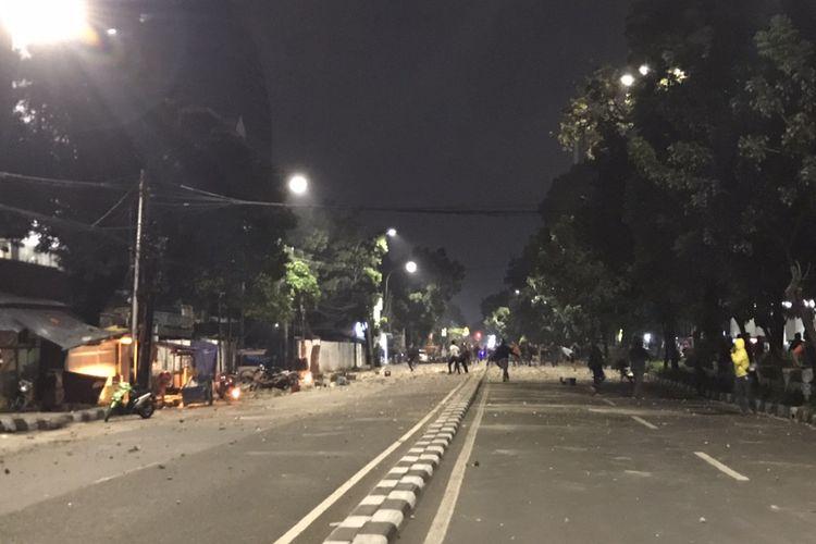 Tawuran terjadi di Jalan Pancoran Raya, Pancoran, Jakarta Selatan pada Ranu (17/3/2021) malam.