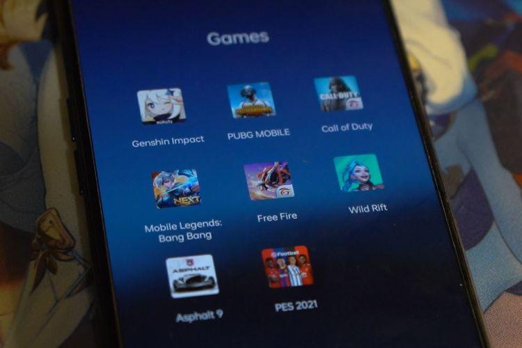 Daftar game yang diuji coba KompasTekno di Oppo Reno5 5G.