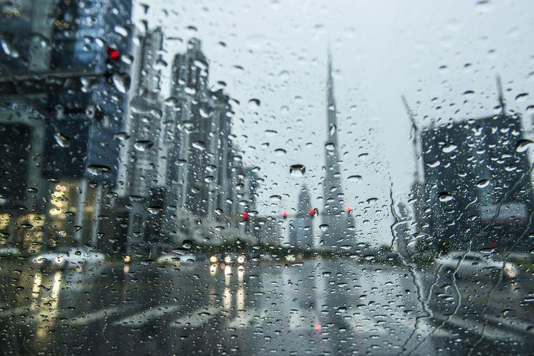 Ilustrasi hujan di Dubai, Uni Emirat Arab