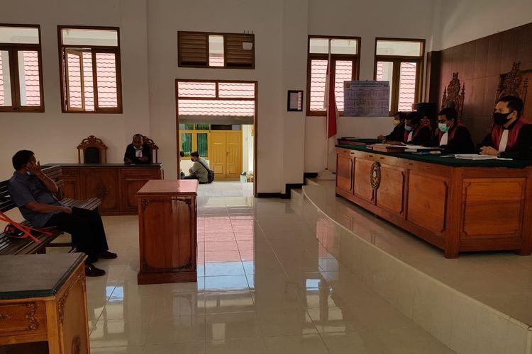 Sidang putusan perkara dugaan pidana pemilu oleh oknum kades di Nunukan, Hakim PN Nunukan memberikan vonis 3 bulan kurungan dengan masa percobaan 6 bulan