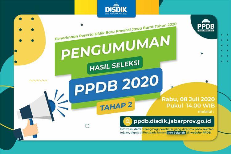 Link Pengumuman Hasil PPDB Jawa Barat 2020 Tahap 2 SMA-SMK