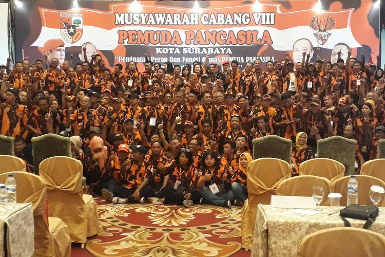 Kader PP Surabaya deklarasi menangkan Jokowi-Maruf Amin di Pilpres 2019 di Surabaya, Sabtu (23/3/2019)