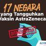 INFOGRAFIK: 17 Negara yang Tangguhkan Vaksin AstraZeneca
