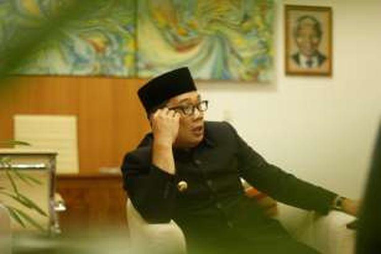 Walikota Bandung Ridwan Kamil di rumah dinas, Senin (29/2/2016)