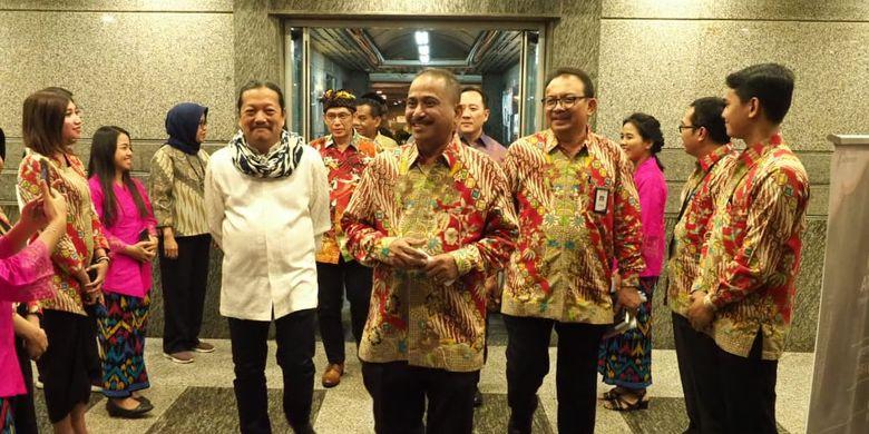 Menteri Pariwisata Arief Yahya saat menghadiri ajang penghargaan Sayembara Desain Arsitektur Nusantara, di Balairung Soesilo Soedarman, Jakarta, Jumat (4/10/2019).