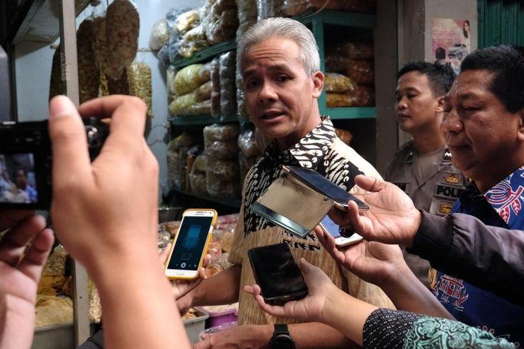 Ketua umum Kagama yang juga Gubernur Jateng Ganjar Pranow ditemui di Pasar Rejowinangun Kota Magelang, Kamis (23/5/2019).