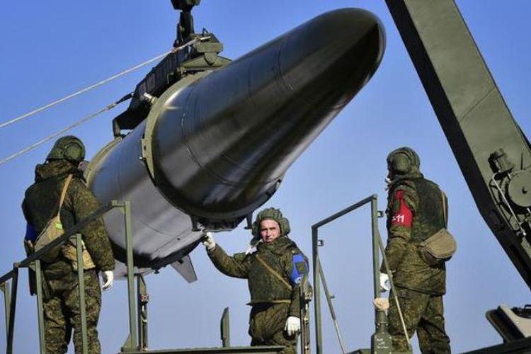 Penempatan sistem rudal yang bisa angkut hulu ledak nuklir Iskander di Kaliningrad, Rusia. (Deutsche Welle)