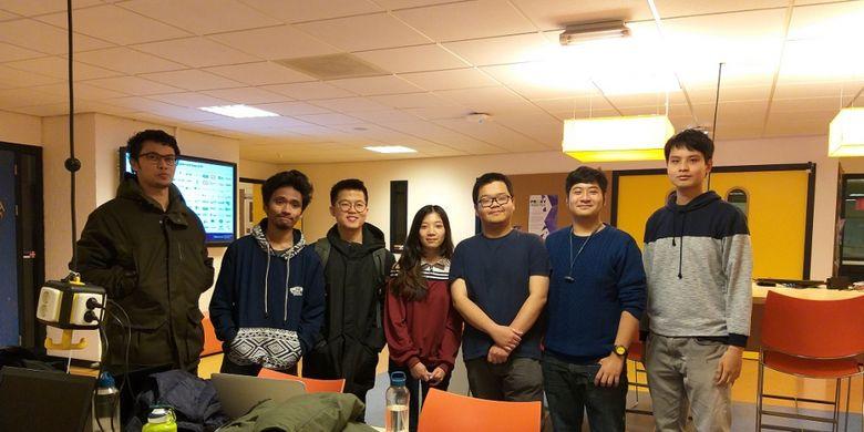 Para mahasiswa dan mahasiswi Indonesia di ICT Sofwatre Enginering Fontys University, Sabtu (17/11/2018).