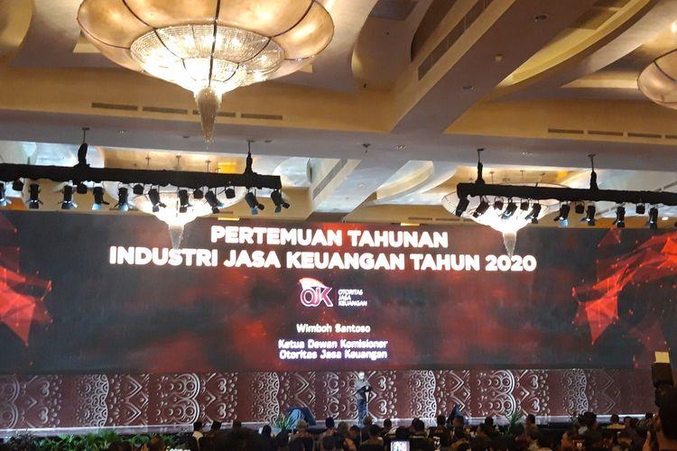 Ketua Dewan Komisioner Otoritas Jasa Keuangan (OJK) Wimboh Santoso di Pertemuan Tahunan Industri Jasa Keuangan 2020 di Jakarta, Kamis (16/1/2020)