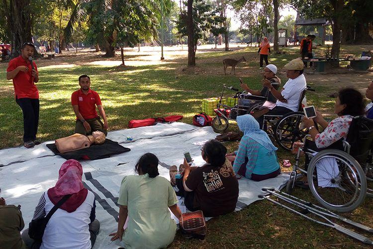 Suasana pelatihanbagi penyandang disabilitas di Kota Solo, Sabtu (19/8/2017).