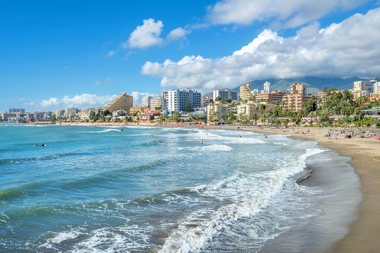 Pantai Benalmadena, Andalusia, Spanyol.