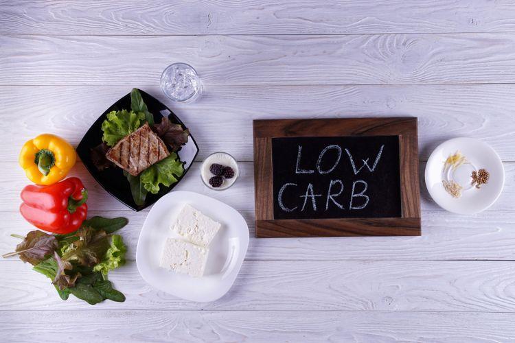 Ilustrasi diet rendah karbohidrat